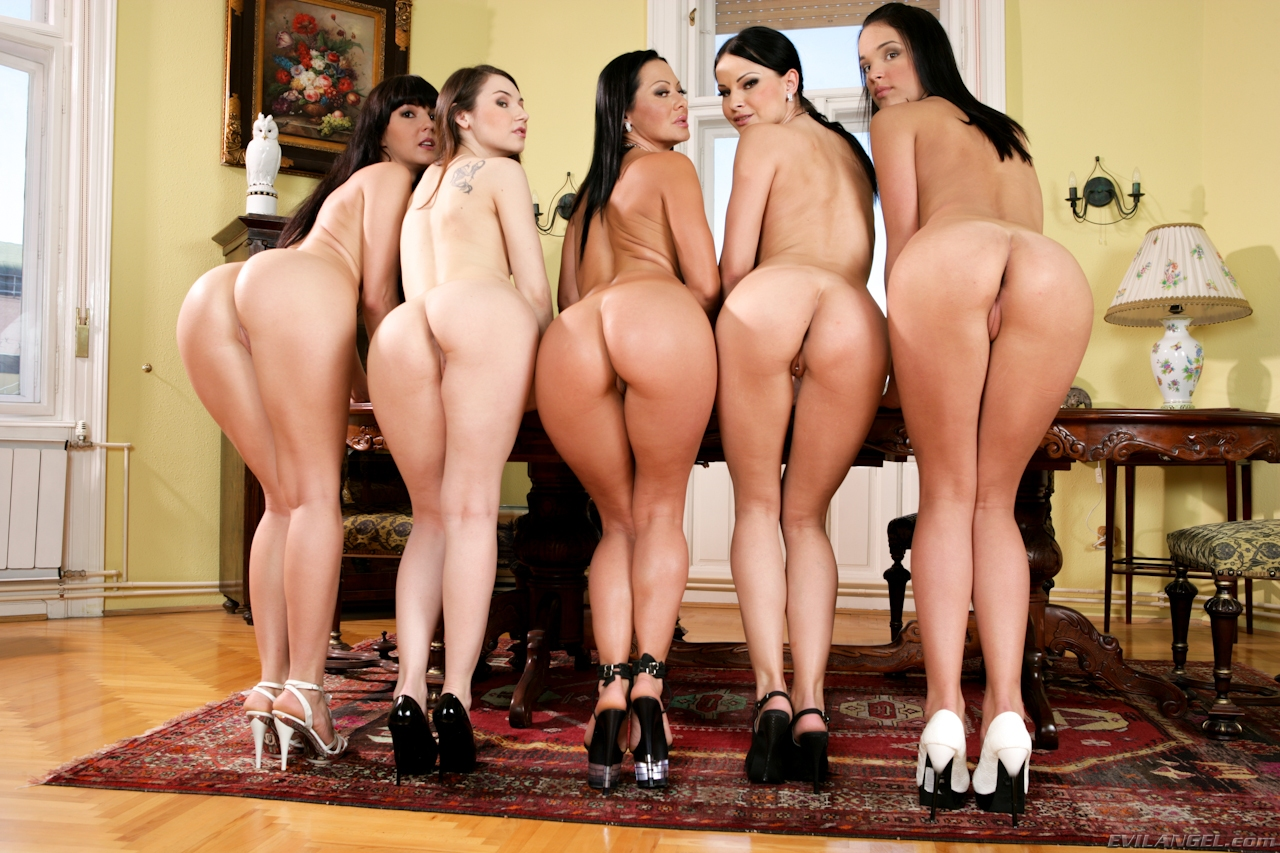 Ass line up group porn