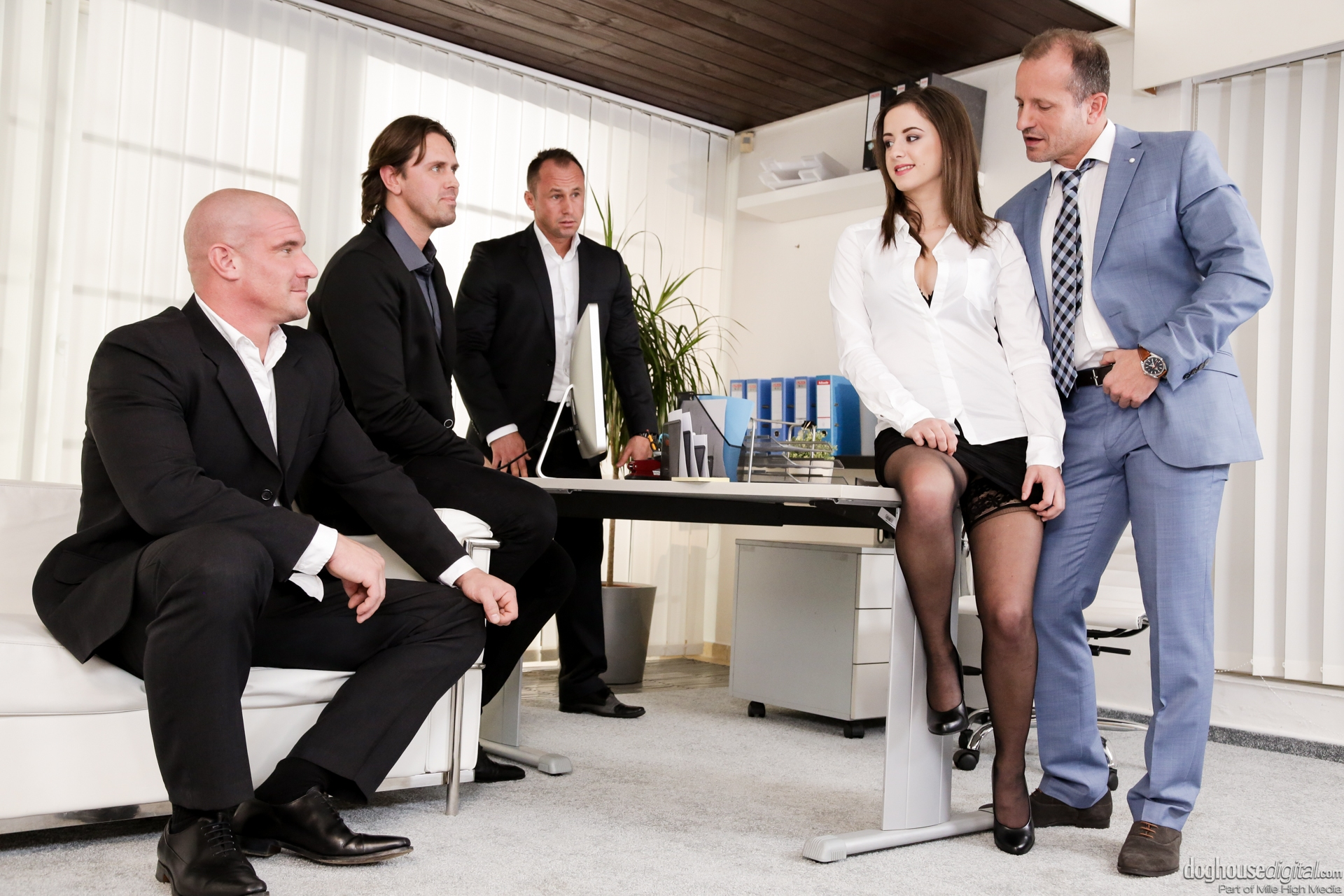 Workers Gangbang The Excited Boss